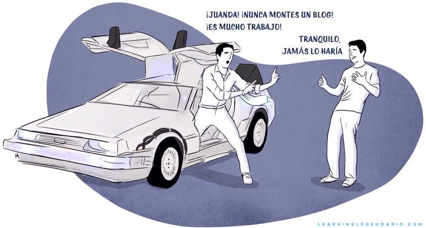 Juanda Back to the future Delorean