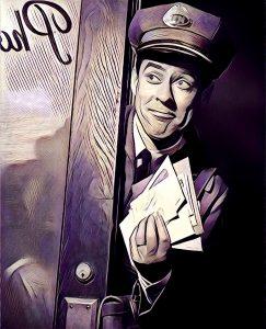 cartero entregando carta