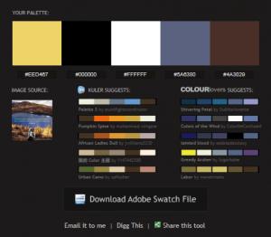 Ejemplo paleta de colores Pictaculous.com