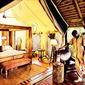 Habitaci贸n de hotel en safari 脕frica