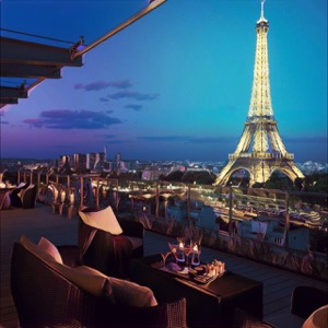 terraza de hotel en Par铆s
