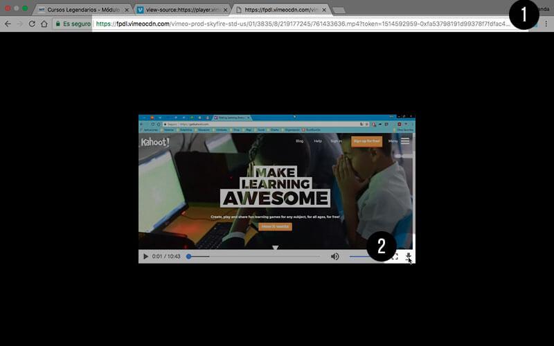 Iniciando la descarga del video de Vimeo