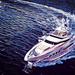 barco pivotar, cambiar el rumbo