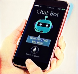 chatbot en el tel茅fono m贸vil