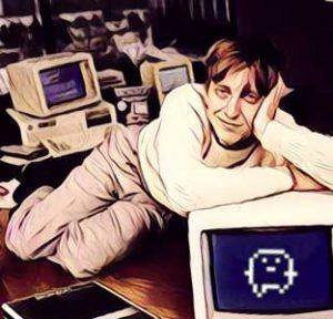 Bill Gates con tamagochi
