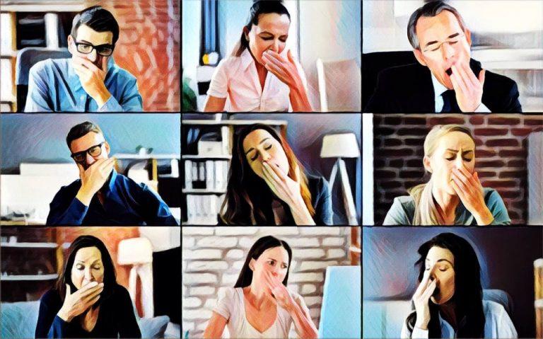 reunion online participantes aburridos desmotivados